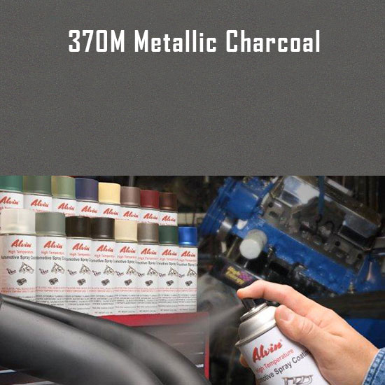 Metallic Charcoal High Temperature Spray Paint