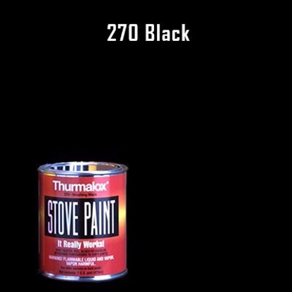 Thurmalox Black Stove Paint - Pint Can