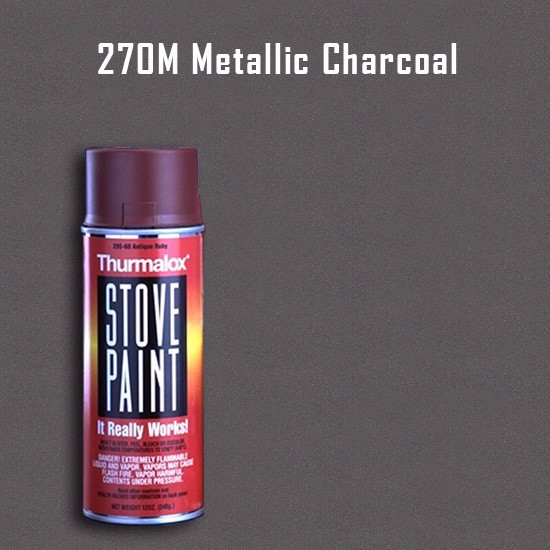 Thurmalox Metallic Charcoal Stove Paint - 12 oz. Aerosol Spray Can