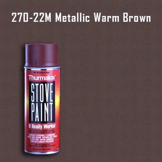 Thurmalox Metallic Warm Brown Stove Paint - 12 oz. Aerosol Spray Can