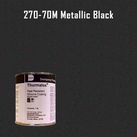 Thurmalox Metallic Black High Temperature Stove Paint - 1 Quart Can