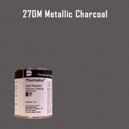 Thurmalox Metallic Charcoal High Temperature Stove Paint - 1 Quart Can
