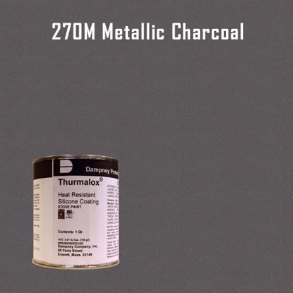 Thurmalox Metallic Charcoal High Temperature Stove Paint - 1 Quart Can