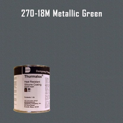 Thurmalox Metallic Green High Temperature Stove Paint - 1 Quart Can