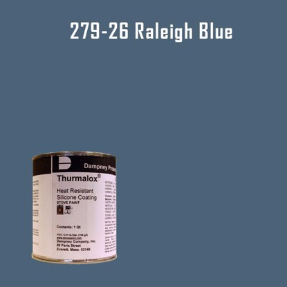 Thurmalox Raleigh Blue High Temperature Stove Paint - 1 Quart Can