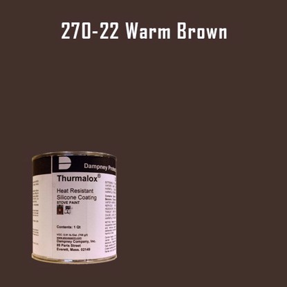 Thurmalox Warm Brown High Temperature Stove Paint - 1 Quart Can