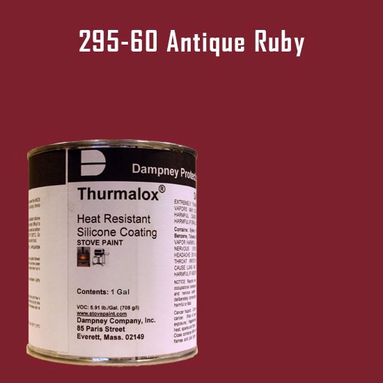 Thurmalox Antique Ruby High Temperature Stove Paint - 1 Gallon Can