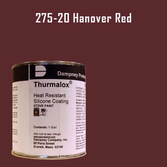 Thurmalox Hanover Red High Temperature Stove Paint - 1 Gallon Can