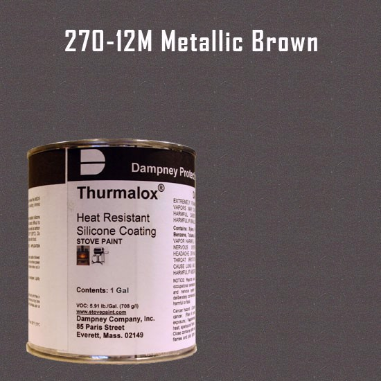 Thurmalox Metallic Brown High Temperature Stove Paint - 1 Gallon Can