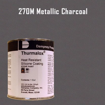 Thurmalox Metallic Charcoal High Temperature Stove Paint - 1 Gallon Can