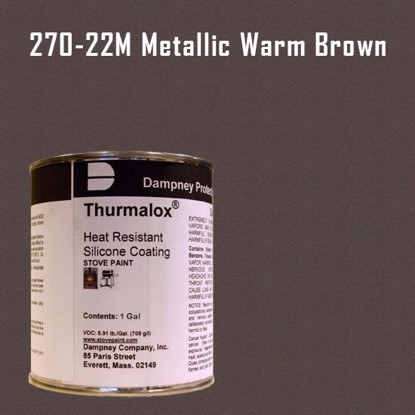 Thurmalox Metallic Warm Brown High Temperature Stove Paint - 1 Gallon Can