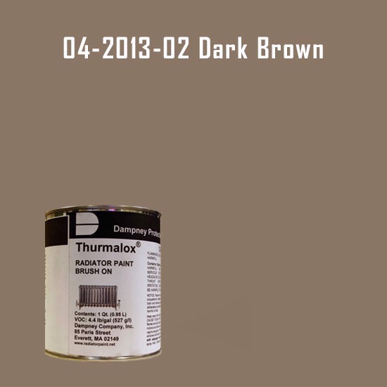 Thurmalox® 200 Series  Dark Brown Radiator Paint - 1 Quart Can