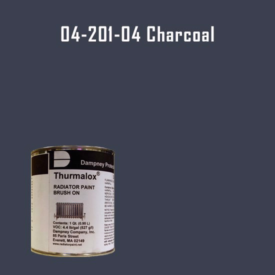 Thurmalox® 200 Series  Charcoal Radiator Paint - 1 Quart Can