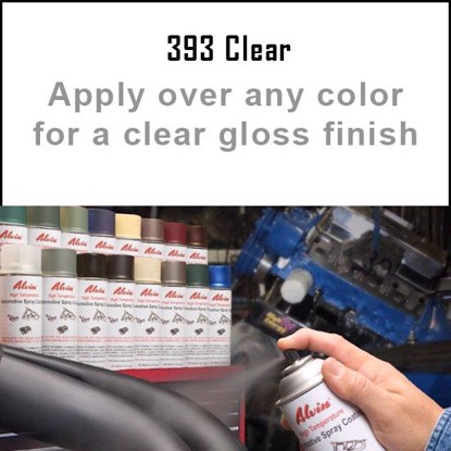 Alvin Products Clear Gloss High Heat Automotive Engine Spray Paint - 12 oz. Aerosol Spray Can