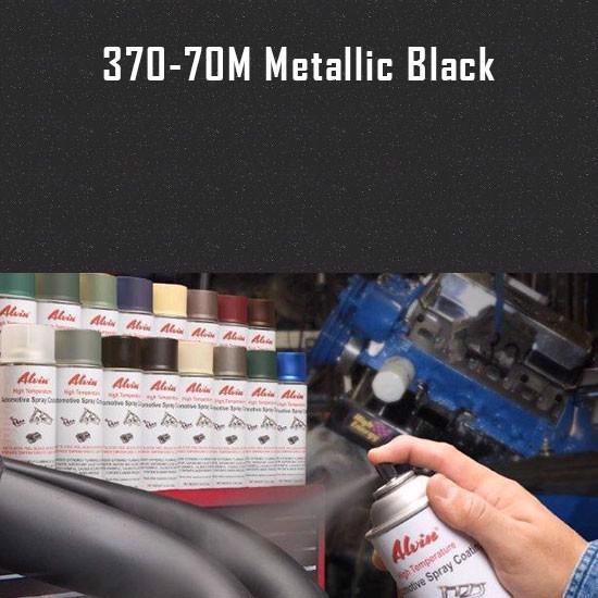 Alvin Products Metallic Black High Heat Automotive Engine Spray Paint - 12 oz. Aerosol Spray Can
