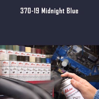 Alvin Products Midnight Blue High Heat Automotive Engine Spray Paint - 12 oz. Aerosol Spray Can