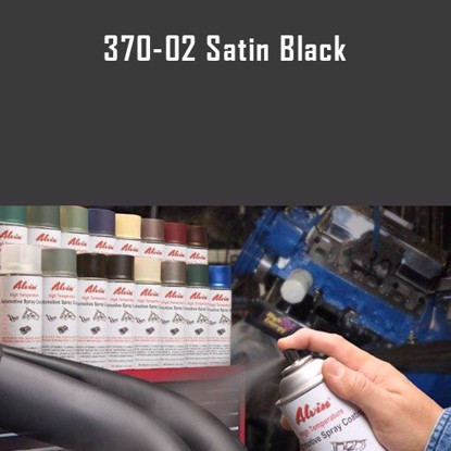 Alvin Products Satin Black High Heat Automotive Engine Spray Paint - 12 oz. Aerosol Spray Can
