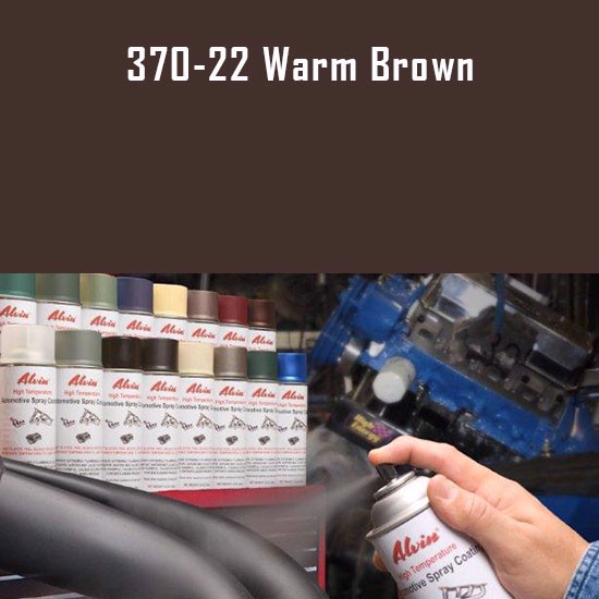 Alvin Products Warm Brown High Heat Automotive Engine Spray Paint - 12 oz. Aerosol Spray Can