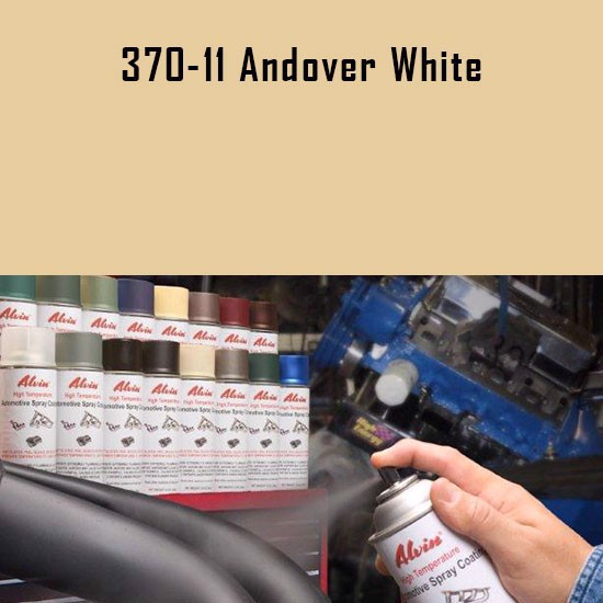 Alvin Products Andover White High Heat Automotive Engine Brush or Spray Paint - 1 Quart Can