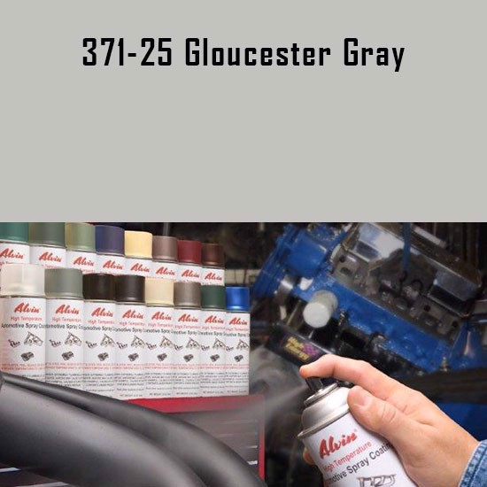 Alvin Products Gloucester Gray High Heat Automotive Engine Brush or Spray Paint - 1 Quart Can.