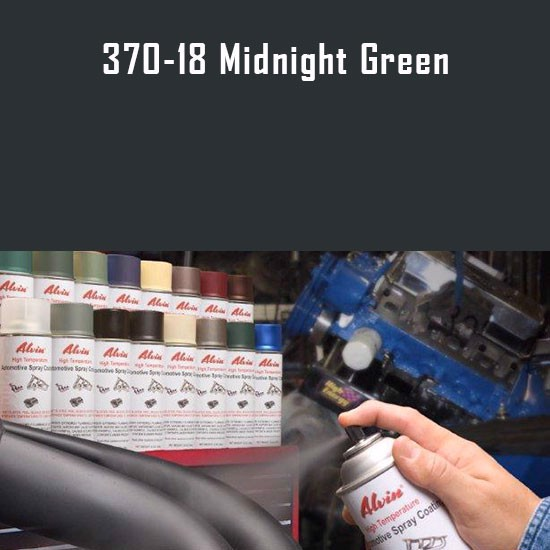 Alvin Products Midnight Green High Heat Automotive Engine Brush or Spray Paint - 1 Quart Can