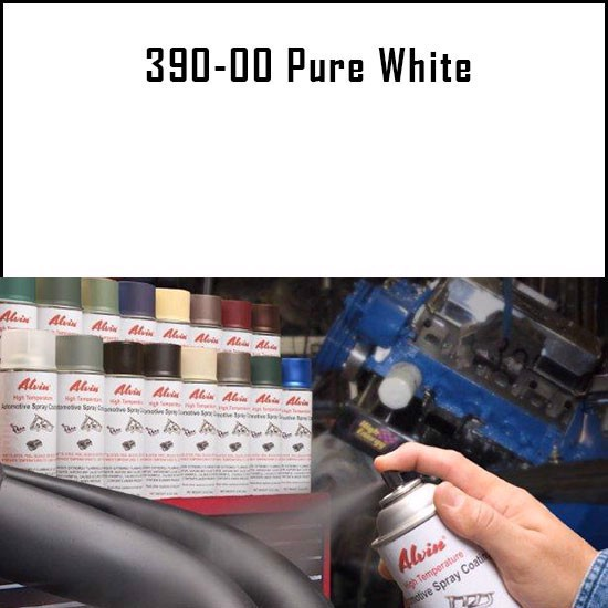 Alvin Products Pure White High Heat Automotive Engine Brush or Spray Paint - 1 Quart Can