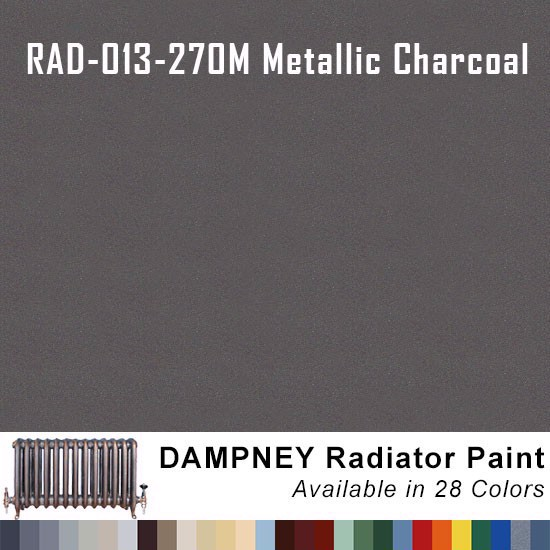 Thurmalox® 200 Series Metallic Charcoal Radiator Paint - 12 Oz Aerosol Can.